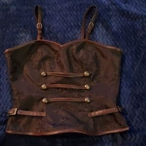 Pretty brown steampunked corset
